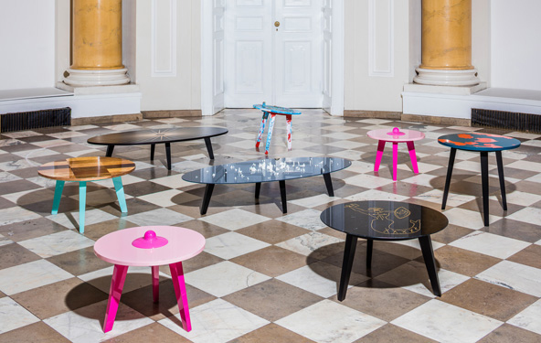 Pelagie tables on the charity auction Mood Beauty for the National Museum