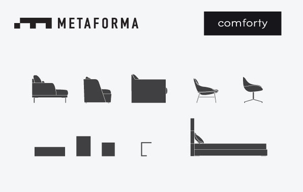 The premiere of the Comforty 2015 new pieces at Metaforma Showroom!